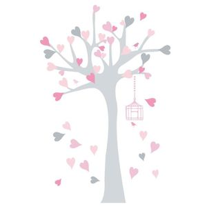stickers arbre rose achat vente stickers arbre rose pas cher cdiscount. Black Bedroom Furniture Sets. Home Design Ideas