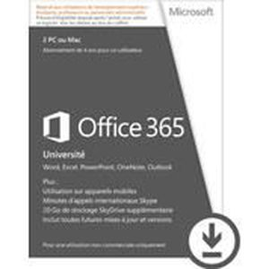 LOGICIEL À TÉLÉCHARGER Microsoft Office 365 Université