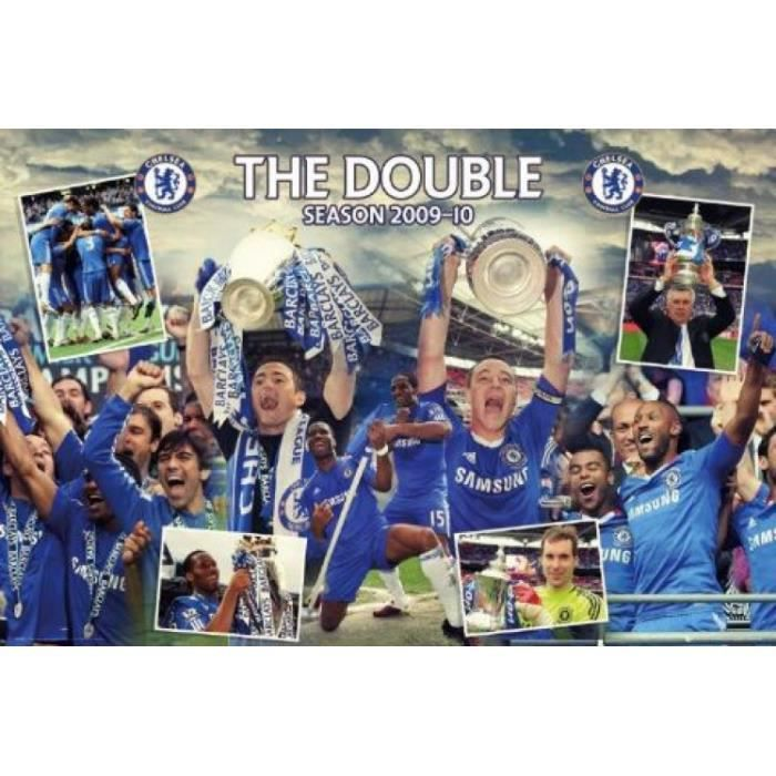 Football poster chelsea double winners 09 10 achat for Decoration maison winners