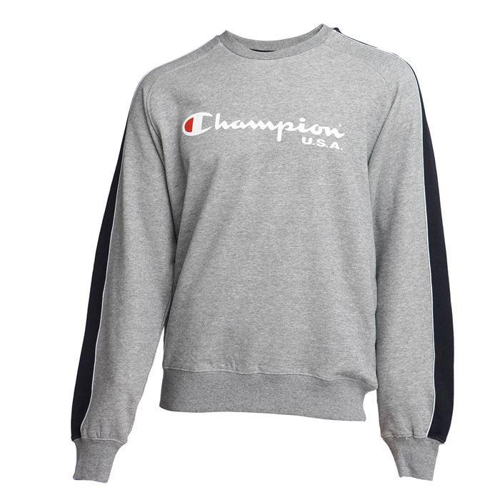 champion sweat homme gris chin et marine achat vente sweatshirt soldes d hiver d s le. Black Bedroom Furniture Sets. Home Design Ideas
