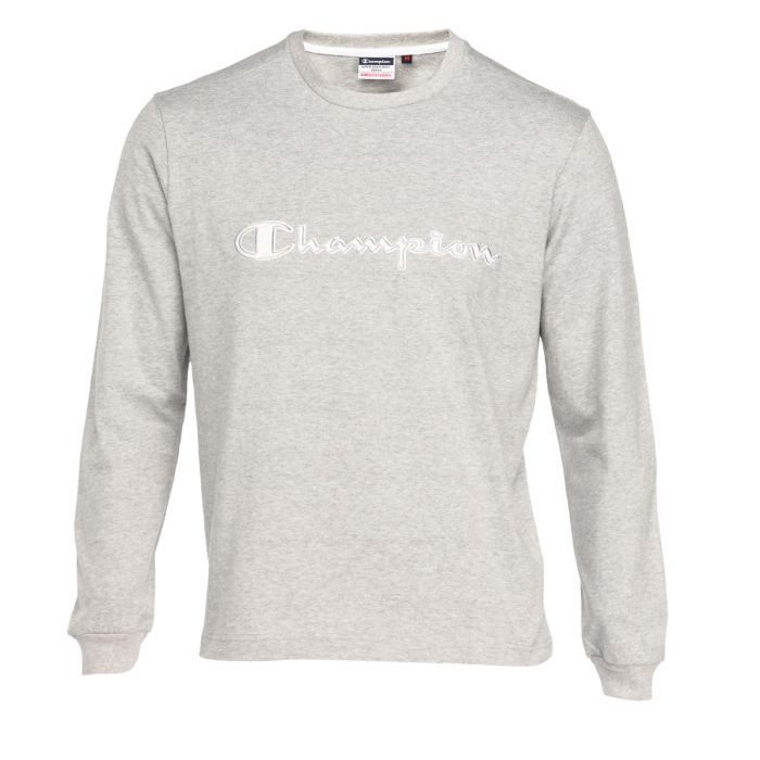 champion tee shirt homme gris chin achat vente t. Black Bedroom Furniture Sets. Home Design Ideas