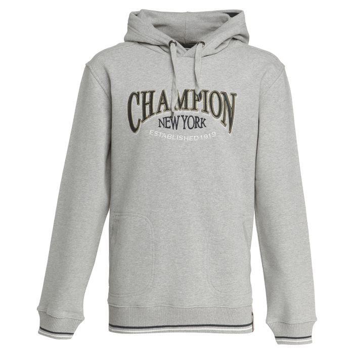 champion sweat capuche homme gris achat vente sweat shirt de sport cadeaux de no l cdiscount. Black Bedroom Furniture Sets. Home Design Ideas