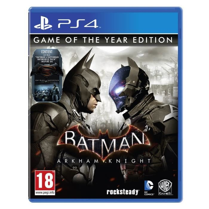 batman arkham knight game of the year edition jeu ps4. Black Bedroom Furniture Sets. Home Design Ideas