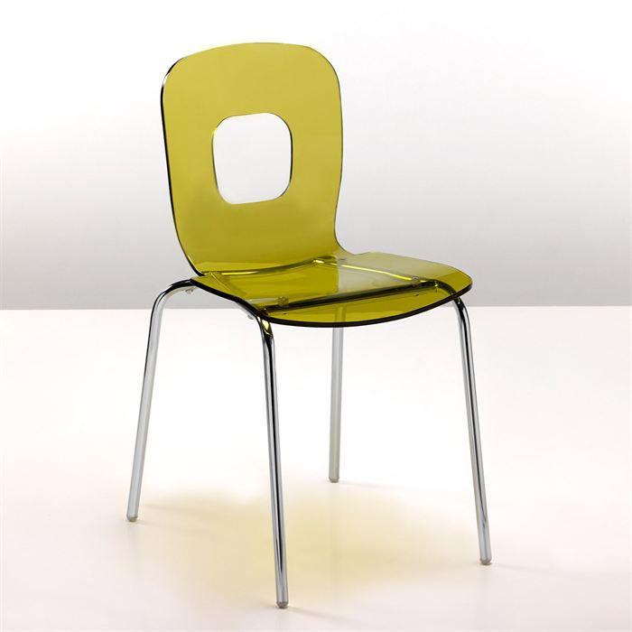 Chaise sun en acier vert transparent achat vente chaise mati re de la structure m tal for Chaise en acier poitiers