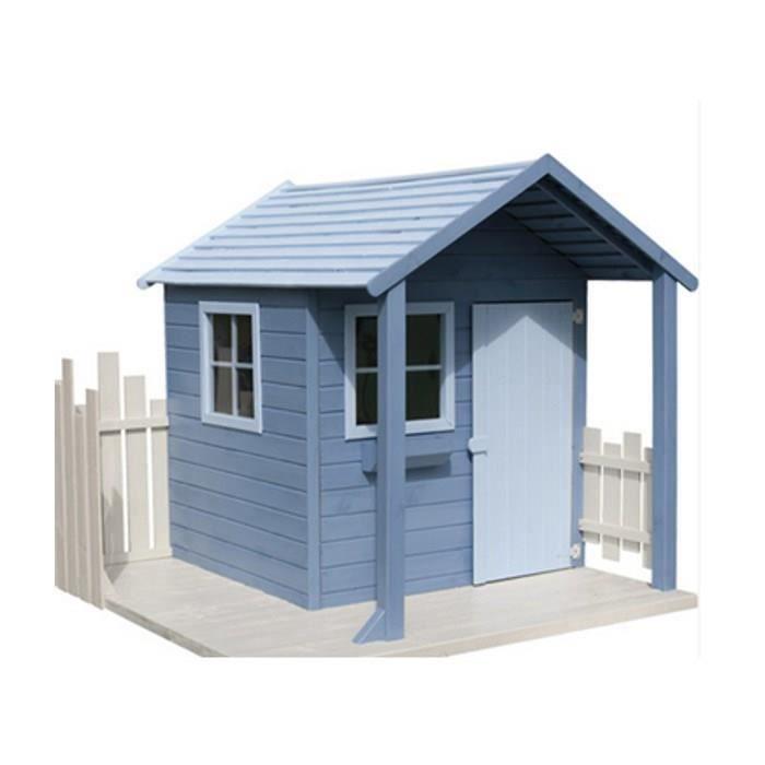 cabane en bois enfant peindre cigale 179x173x160cm achat vente maisonnette ext rieure. Black Bedroom Furniture Sets. Home Design Ideas