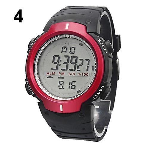 femme homme sport montre lcd tanche chronom tre digital date caoutchouc achat vente montre. Black Bedroom Furniture Sets. Home Design Ideas