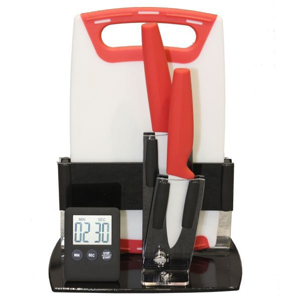 bloc 2 couteaux ceramiques timer planche a achat vente couteau de cuisine bloc 2 couteaux. Black Bedroom Furniture Sets. Home Design Ideas
