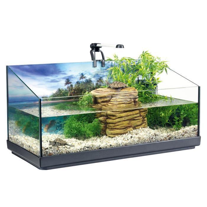 Aquarium pour tortue achat vente aquarium pour tortue pas cher les soldes sur cdiscount - Aquarium complet pour tortue d eau ...