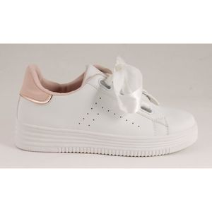 Basket blanches femme achat vente pas cher cdiscount for Baskets blanches femme