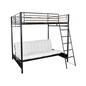 lit mezzanine 140x190 achat vente lit mezzanine 140x190 pas cher cdiscount. Black Bedroom Furniture Sets. Home Design Ideas