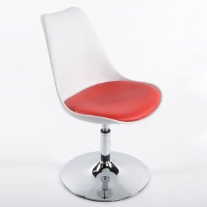 CHAISE Chaise Design STONE Blanc/Rouge