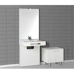 Meuble de salle de bain pmr simple vasque nap achat - Salle de bain pmr ...