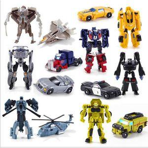 FIGURINE - PERSONNAGE Lot de 7 Transformateurs Voitures Robots Jouets