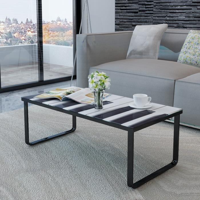 Magnifique table basse en verre design piano achat - Table basse en verre cdiscount ...