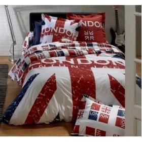 housse de couette london 240x220 achat vente housse de couette cdiscount. Black Bedroom Furniture Sets. Home Design Ideas