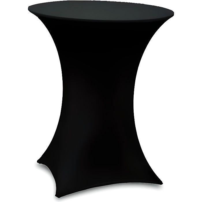 Table haute bar pliante housse noir achat vente - Table haute pliante rectangulaire ...
