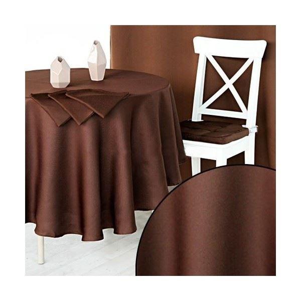 nappe ronde chocolat. Black Bedroom Furniture Sets. Home Design Ideas