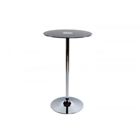 Table de bar focus plateau verre noir achat vente for Table de bar noir