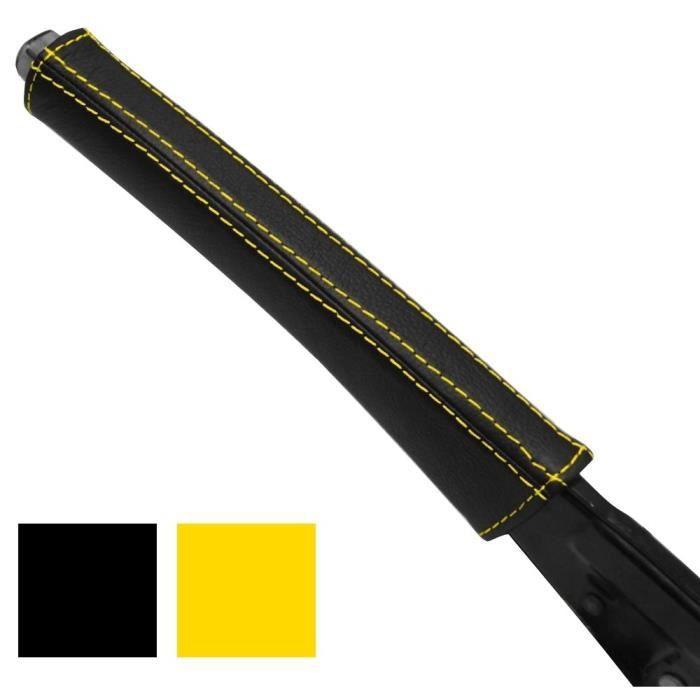 couvre poign e frein en cuir c jaune peugeot 307 achat vente levier de frein a main couvre. Black Bedroom Furniture Sets. Home Design Ideas