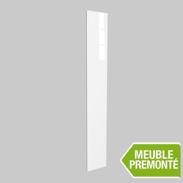 joue de finition 236x35 cristal blanc achat vente finition meuble cuisine joue de finition. Black Bedroom Furniture Sets. Home Design Ideas