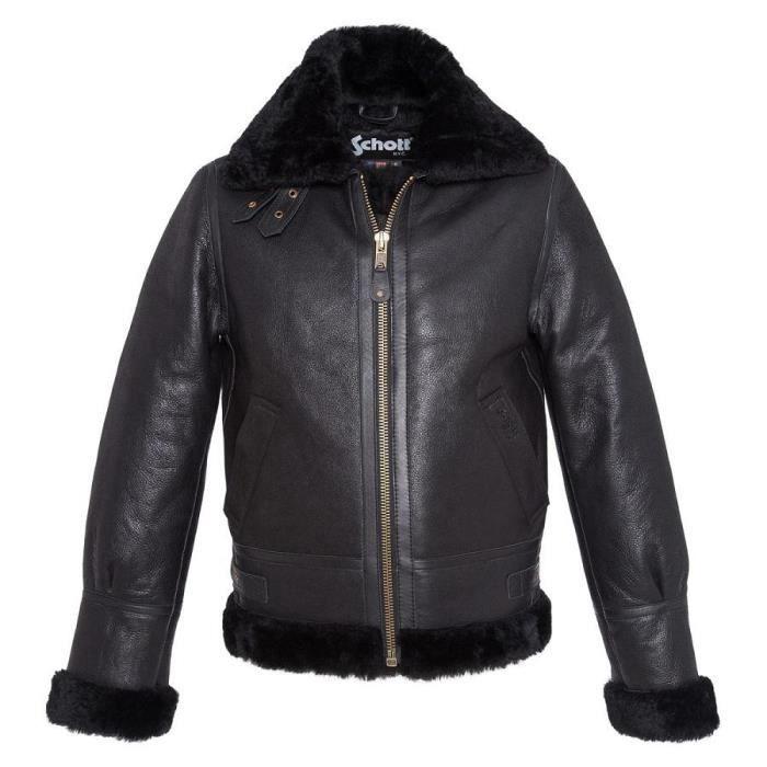 schott blouson cuir homme lc1259 noir noir achat vente blouson cdiscount. Black Bedroom Furniture Sets. Home Design Ideas