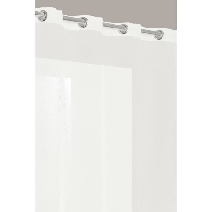 rideau voilage tissu effet lin lourd blanc achat vente rideau voilage cdiscount. Black Bedroom Furniture Sets. Home Design Ideas