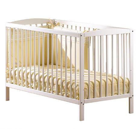 sauthon on line lit barreaux 120 x 60 blanc achat. Black Bedroom Furniture Sets. Home Design Ideas