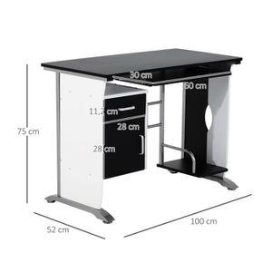 bureau 100 cm achat vente bureau 100 cm pas cher cdiscount. Black Bedroom Furniture Sets. Home Design Ideas