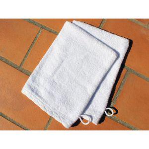GANT DE TOILETTE Lot 2 gants de toilette ANTIQUE Blanc
