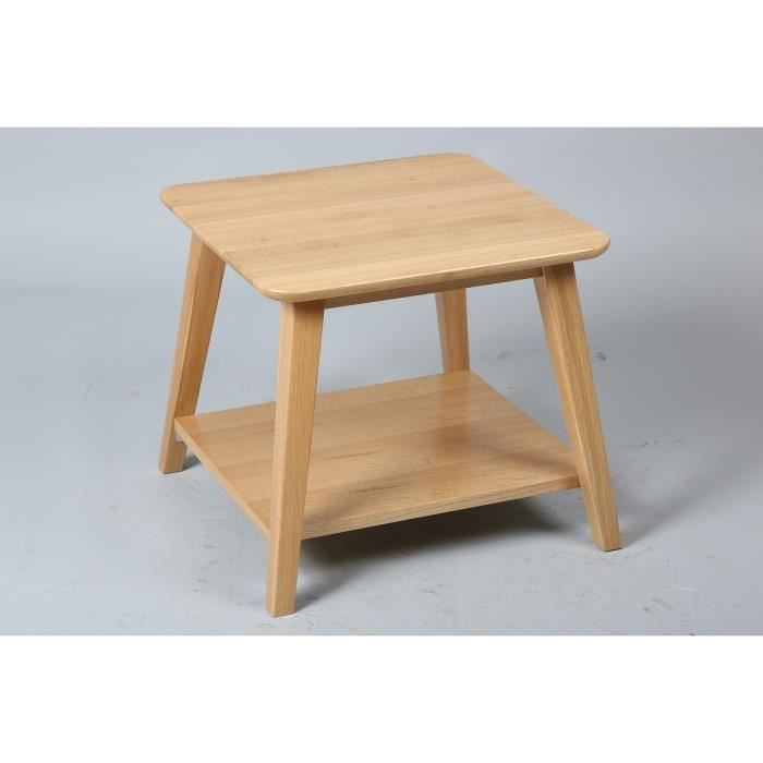 Bout de canap vintage naturel meuble house achat for Meuble bout de canape