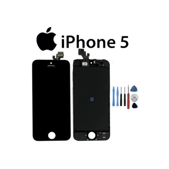 ecran iphone 5 noir avec kit outils achat ecran de. Black Bedroom Furniture Sets. Home Design Ideas