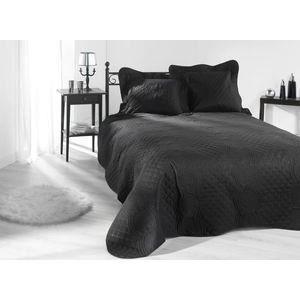 linge de lit 230x250 nocturne noir achat vente jet e de lit boutis cdiscount. Black Bedroom Furniture Sets. Home Design Ideas