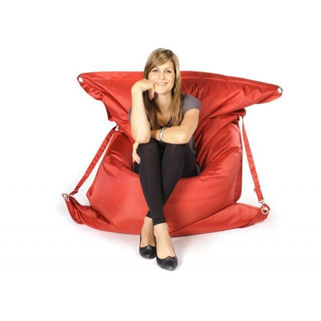 pouf big52 raw rouge achat vente pouf poire nylon. Black Bedroom Furniture Sets. Home Design Ideas