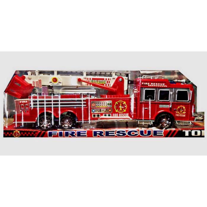 Camion de sapeur pompier a friction 40 cm rouge jouet achat vente camion - Vente camion pompier ...