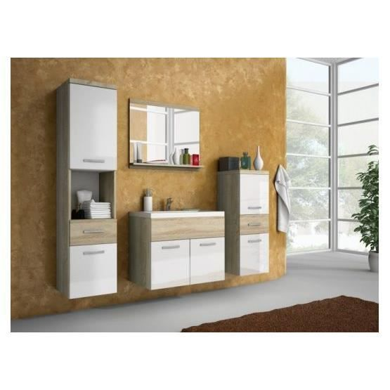 Salle de bain bois et blanc meuble de salle bain en bois for Salle de bain blanc et bois