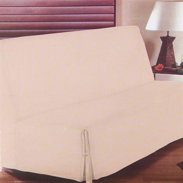 housse de clic clac beige achat vente housse de canap cdiscount. Black Bedroom Furniture Sets. Home Design Ideas
