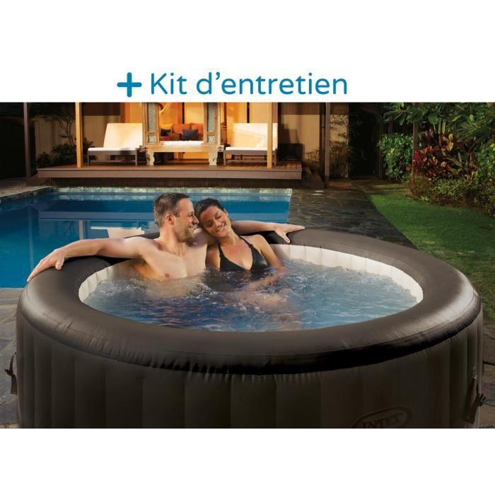 Spa gonflable intex 4 personnes 4 jets massage achat vente spa complet - Destockage spa gonflable ...