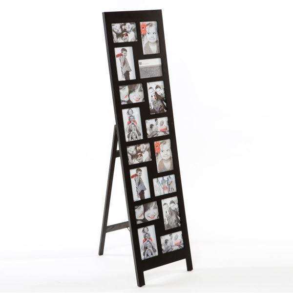 pele mele sur pied 16 photos coloris noir achat vente p le m le photo mdf verre cdiscount. Black Bedroom Furniture Sets. Home Design Ideas