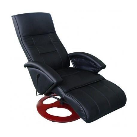 Fauteuil de massage chauffant noir maja achat vente fauteuil noir cdis - Fauteuil de massage scholl ...