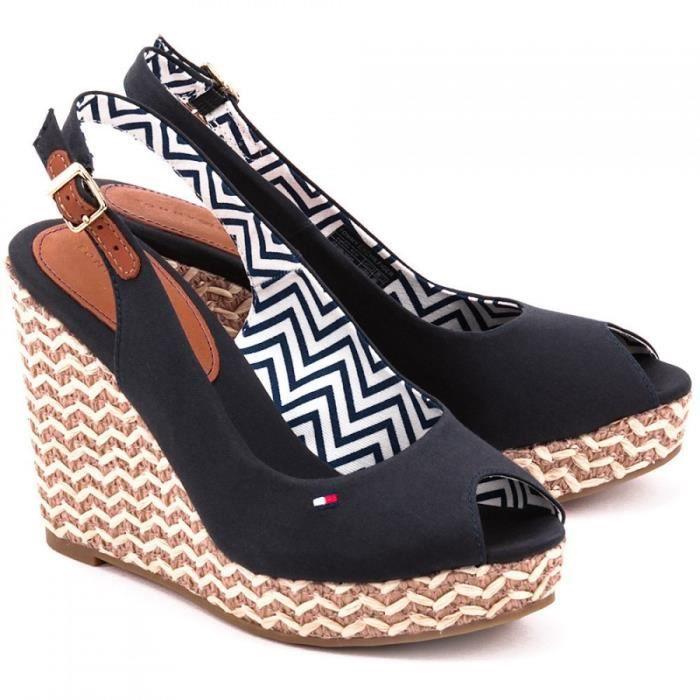 sandales tommy hilfiger emery 62d bleu marine achat vente sandale nu pieds sandales tommy. Black Bedroom Furniture Sets. Home Design Ideas