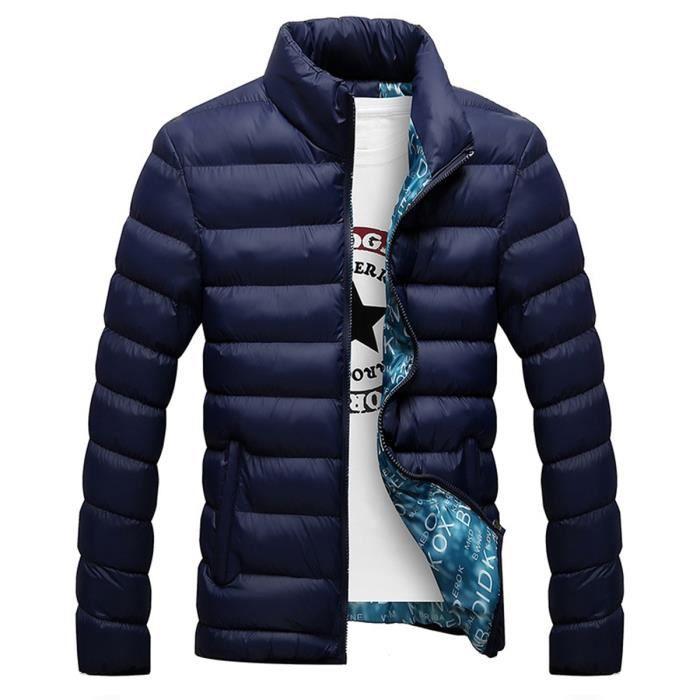 doudoune matelass homme grande taille nouvelle collection hiver bleu fonc achat vente. Black Bedroom Furniture Sets. Home Design Ideas