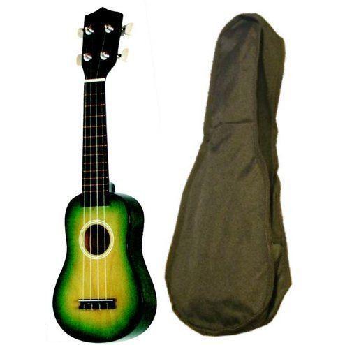 Ukulele soprano avec housse d grad noir et vert pas cher for Housse ukulele