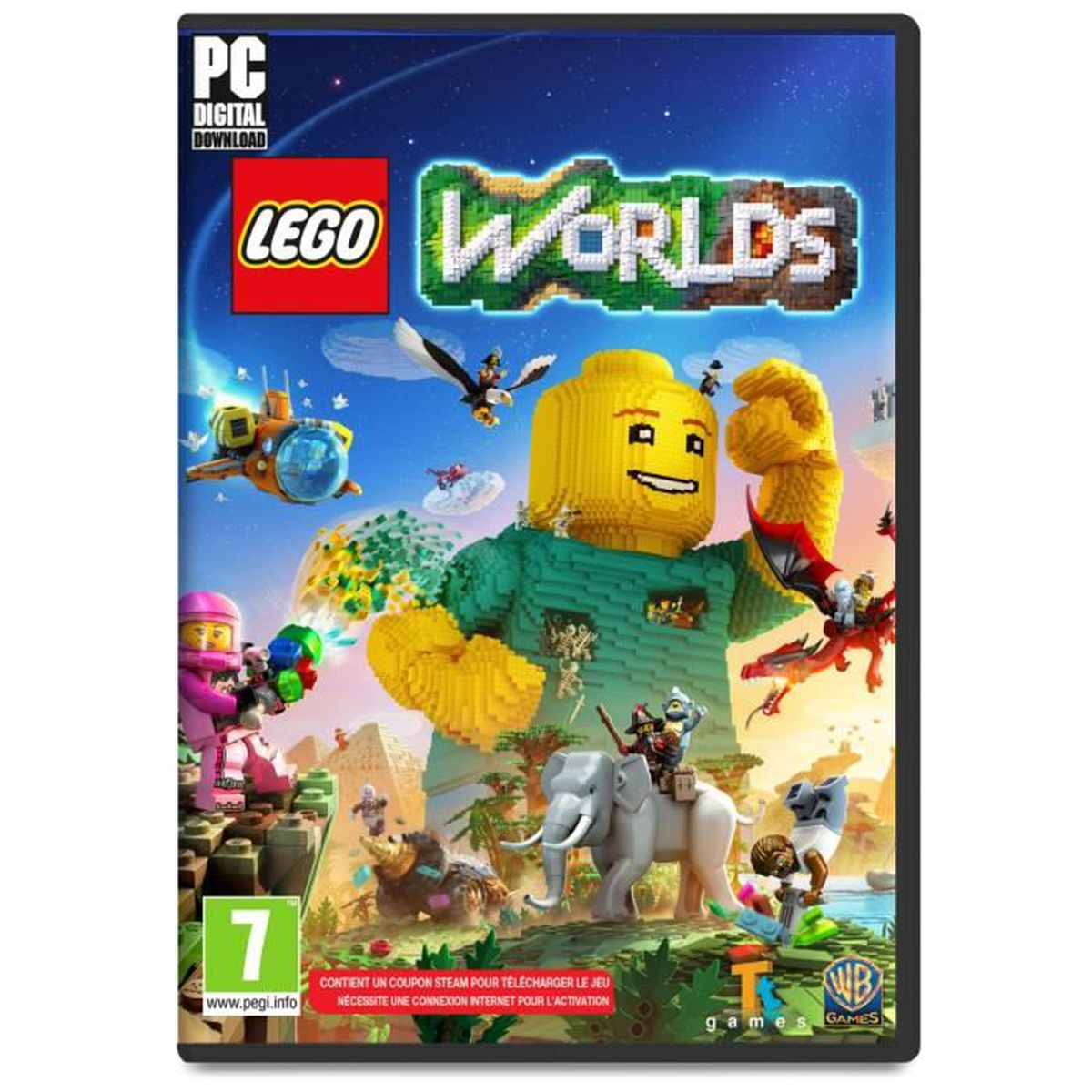 lego worlds jeu pc achat vente jeu pc nouveaut lego worlds jeu pc cdiscount. Black Bedroom Furniture Sets. Home Design Ideas
