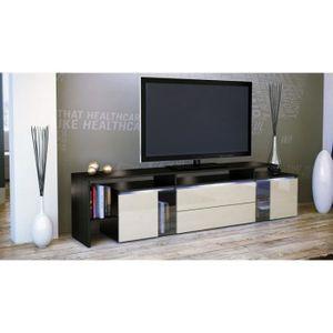 Meuble télé Ikea LACK noir – banc TV Meuble télé Ikea Lack noir ...
