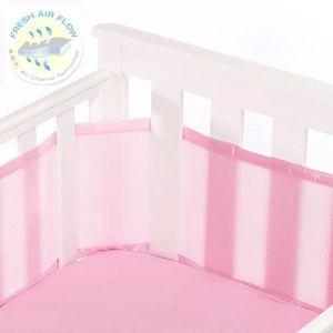 tour de lit respirant rose uni achat vente tour de lit b b 0811283020360 cdiscount. Black Bedroom Furniture Sets. Home Design Ideas