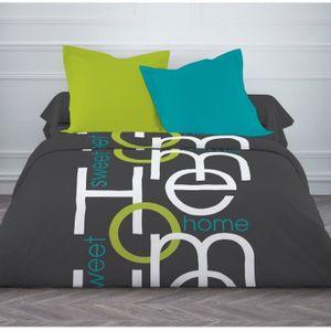 today couette temp r e imprim e home 220x240 cm multicolore achat vente couette cdiscount. Black Bedroom Furniture Sets. Home Design Ideas