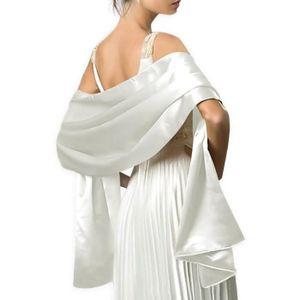 echarpe foulard elgante chle tole wrap en satin unicolore pour - Etole Noire Pour Mariage
