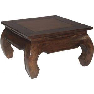 Table basse bois teck achat vente table basse bois teck pas cher les so - Table basse opium carree ...