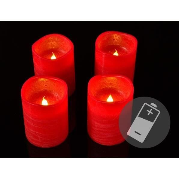 set 4 bougies led rouge cire t l commande achat vente bougie d corative cdiscount. Black Bedroom Furniture Sets. Home Design Ideas