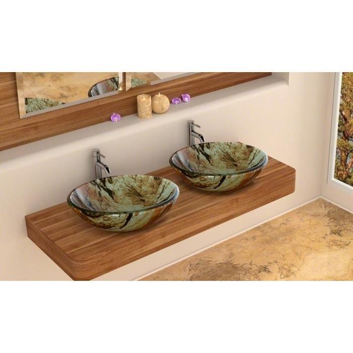 vasque ronde en verre tremp couleur ambr 420x achat. Black Bedroom Furniture Sets. Home Design Ideas